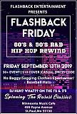 Flashback Old School Friday-The 80's & 90's R&B/HIP HOP Rewind