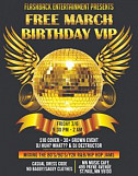 Free March BIrthday VIP