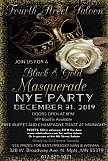 Black & Gold Masquerade NYE Party