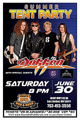 Summer Tent Party With Special Guest: Dokken