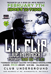 Lil' Flip, Young Nuk & J. Plaza Live @Club Underground Spring Street 2/7 Hosted by 50 Tyson. $20