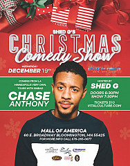 Shed G Christmas Comedy Show Dec 19th With Chase Anthony